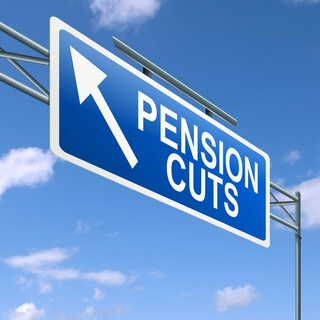 Pension cut